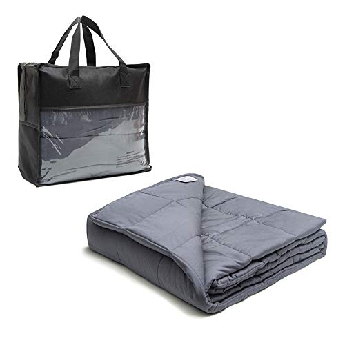 huayoute Weighted Blanket 20 lbs, Cooling Weighted Blanket for Adults(180-220 lbs), 60″x80″ Queen Size Weighted Blanket with Premium Glass Beads
