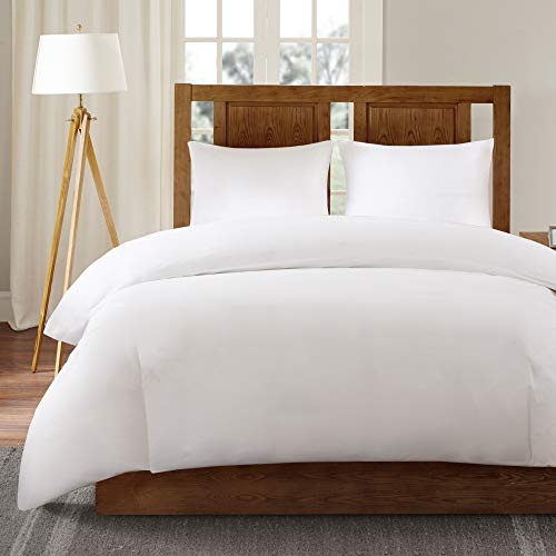 Protect Against Dust Mites, Allergens, and Animal Stains, King, White – SLEEP PHILOSOPHY Bed Guardian 3M Scotchgard Comforter Protector Duvet Cover with Zipper Flap – Waterproof – Hypoallergenic