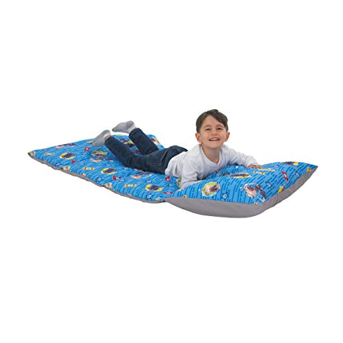 Blue, Grey, Yellow & Red Deluxe Easy Fold Toddler Nap Mat – Disney Puppy Dog Pals