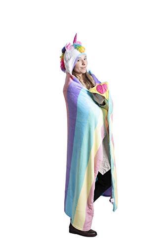 High Desert Gear Novelty Hooded Blanket Unicorn, Large