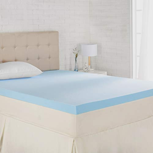 Ventilated, CertiPUR-US Certified Foam, 3-Inch – AmazonBasics Cooling Gel-Infused Memory Foam Mattress Topper – Queen