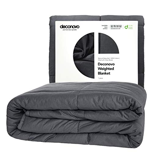 Deconovo Weighted Blanket – 100% Cotton Heavy Blanket Filled with Glass Beads 48 x 72 inch | 15 lbs
