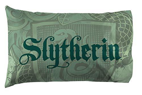 Jay Franco Harry Potter House of Slytherin Reversible Pillowcase, Green