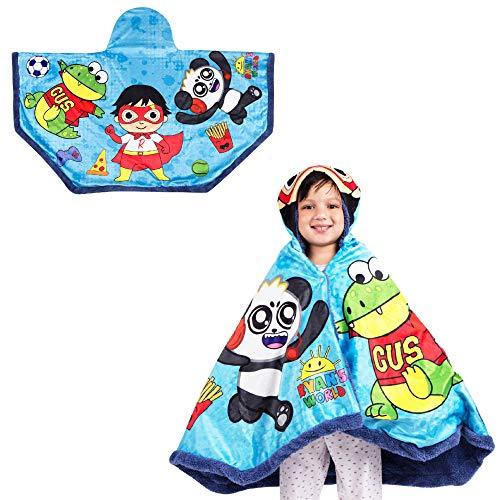 Franco Kids Bedding Super Soft and Cozy Snuggle Wrap Hoodie Blanket, 55″ x 31″, Ryan's World