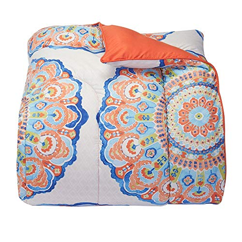 OCM Catalina Coral Twin XL Comforter for College Dorm Residence Hall Extra Large Twin Bed