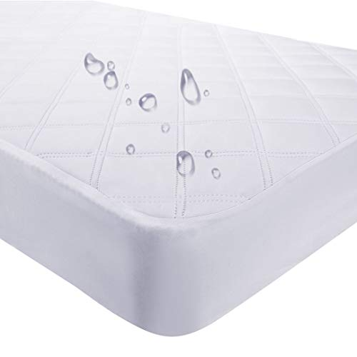 Crib Mattress Protector Waterproof Toddler Mattress Pad Cover Quilted Fitted Baby Mattress Cover for Toddler and Crib Bedding Sets 28x52inches Breathable & Hypoallergenic by YOOFOSS