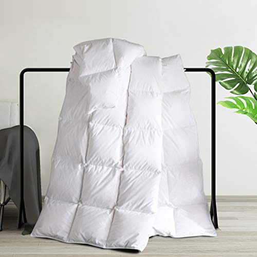 Maple Down All Season Down Alternative Comforter King Size, Soft Duvet Insert Bed Comforters, 90 x 106 inches, White.