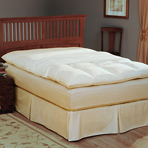 Pacific Coast® Feather Bed Cover w zip closure Queenfeather bed not included 157