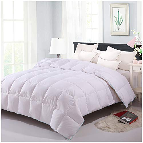 Homelike Moment Down Comforter King Lightweight Down Duvet Insert White Down Comforter Cotton Shell Downproof with Corner Tab King Size