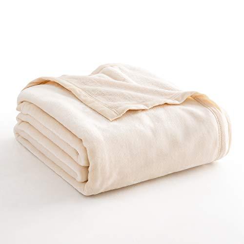 Fairpeak Luxury Fleece Blanket Super Soft Blanket Bed Warm Blanket Couch Blanket for All Season
