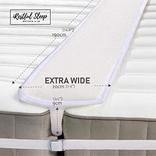 iRestful Sleep Bed Bridge Twin to King Converter Kit Extra Wide – Split King Bed Connector for Converting Twin to King Or Twin XL to King – Mattress Extender/Joiner – Twin Bed Connector King Maker