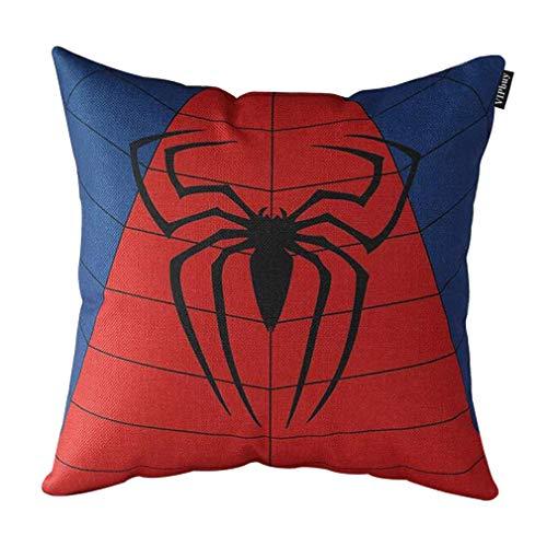VIPbuy Comic Superhero Cotton Linen Decorative Square Throw Pillow Case Sofa Waist Cushion Cover 18 x18 inches Spider Man