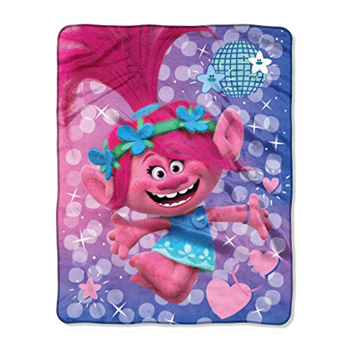 DreamWorks Silky Soft Throw Blanket Trolls Bright Star 40IN X 50IN