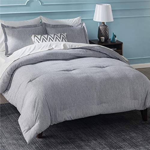 Queen Size Comforter Set 88×88 inches – Lightweight Bedding Set – Soft Down Alternative Brushed Cationic Dyeing Duvet Insert with Pillow Sham – Bedsure