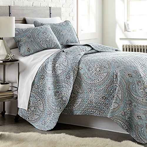 Quilts Sets, 3 Piece Set, King/California King, Aqua – The Pure Melody Collection – Southshore Fine Linens