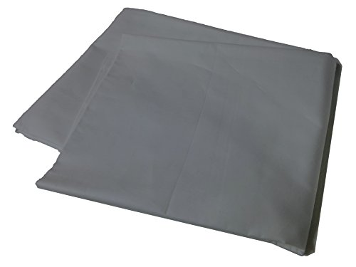 Body Pillow Cover Pillowcase, 400 Thread Count, 100% Cotton, 20 x 54 Non-Zippered Enclosure, 6 Colors Available Gray