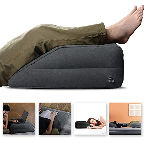 Elevating Leg to Reduce Swelling, Back Pain, Leg Pain, Hip and Knee Pain, Improves Circulation, Ideal for Sleeping,Reading,Relax – WEY&FLY Leg Elevation Pillow Inflatable Leg Rest Pillow