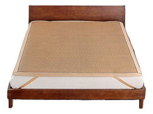 Qbedding Rattan Cooling Summer Sleeping Pad Mattress Topper Twin, No Pillow Shams, Ancient
